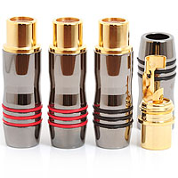 Gold Plated In Line RCA Phono Sockets