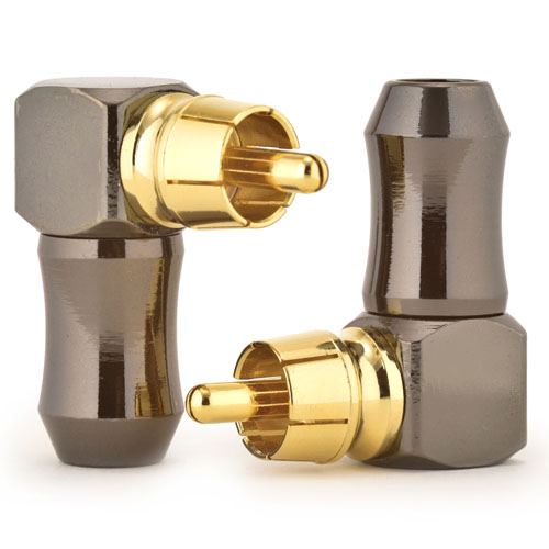 Right Angle RCA Phono Plugs Solder Fit