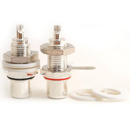 Phono Chassis Socket - Silver Female RCA Socket