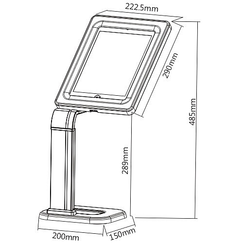 Anti Theft iPad Tablet Desk Mount Stand