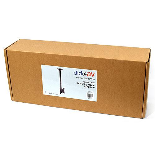 click4av TVC22A01B Black Heavy Duty TV Ceiling Mount 23-43 inch